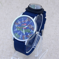 New WOMAGE Camouflage Numerals Dial Fashion Mens Womens Child Nylon Wristbands Quartz Wrist Watch