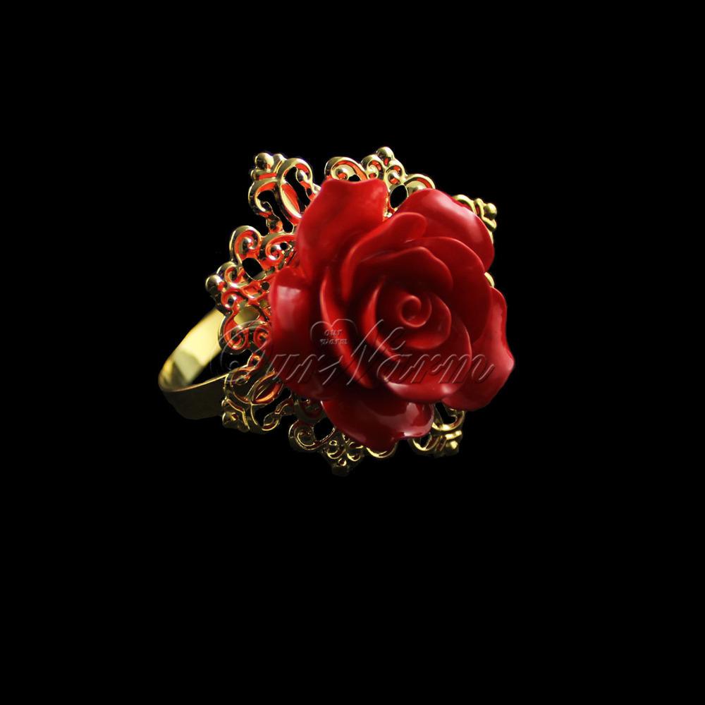 Кольцо для салфеток Ourwarm 12pcs/lot , CJH-JMG-Q-RED-12 кольцо для салфеток quaeas aliexpress qn13030707