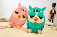 3D Cute Lovely Cartoon Owl Soft Silicon Case for Samsung Galaxy S3 SIII i9300 Free Shipping