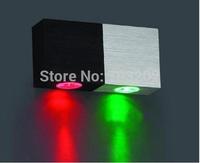 2W 220V LED wall lamp Wall Light Backlight Decorative lights free shipping