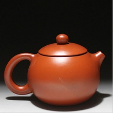 Tea pot purple sand pot in handmade size 12cm 8cm suit for tea drinking