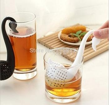 Чай фильтры силиконовые лебедь дизайн листовой чай фильтр травяные специи для заварки фильтра чай инструменты H020