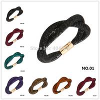 Double Stardust Bracelet Mesh Chian With Full Crystal Inside Gold/Silver Magnetic Bracelet Charm Crossover Surrounded Bracelet