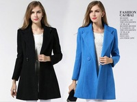 Hot sale European and American S-XXL size women's woolen coat  European leg wholesale women woolen coats