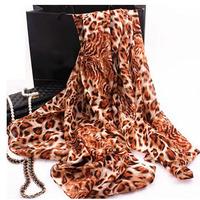 Discount Sale Womens Leopard Scarves Top Brand Spring Summer Autumn Fashion Ladies Casual Silk Scraf Stole Cashmere Shawls