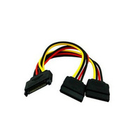 WHOLESALE 10pcs/lot SATA 15pin Hard Disk Power Male to 2 Female Splitter Y 1 to 2 extension Cable