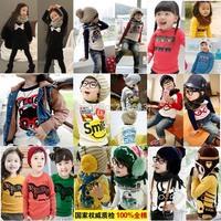 100% cotton 2015 children t-shirt child tops tees kids clothes boys blouse girls long sleeve t shirt  cartoon albb