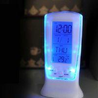Digital LED Alarm Clock Calendar Thermometer Backlight Multi-function Music Clock 95741