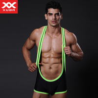 Male one piece sports pants sexy pants vest breathable bag mesh panties sexy male fitness pants Andrew Christian