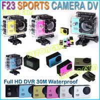 2014 Sport camera F23 Full HD 1080P 5.0MP Underwater Action Sport Camera CAM DV Camcorder WDV5000 Waterproof camera Mini DV