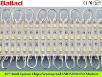 Free Shipping!!  Supply water-proof  3pcs SMD5050 modules/  less than 0.72W LED modules( 1 lot= 10sets,1 set=20pcs)