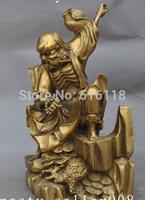 "Free Shipping 11""tibet buddhism temple brass Damo Bodhidharma Patriarch Dharma Buddha statue"