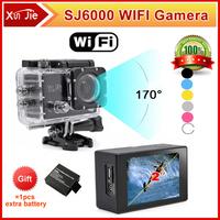 "New Version SJ6000 WIFI Action Camera 12MP Full HD digital camera 1080P 30FPS 2.0""LCD Diving 30M Waterproof winter sport DV"
