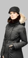 2014 Wholesale New Shera Ladies Parka down Fill Hood Rib Sleeve Adjustable Waist Windproof women Winter Parka Coat Top quality