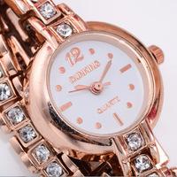 High-grade crystal bracelet watch 2 rng winding watch fashion personality Explosion of women's fashion watch  Free Shipping