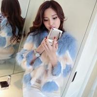 New winter coat / female fashion elegant imitation fox fur fur coat / fur fox fur jacket Quilted mixed colors