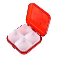 Portable 4 Cells Empty Storage Pill Box Case for Pills Medicine Drug  S7NF