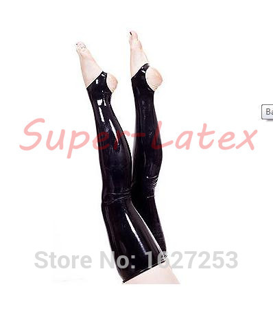 Hot sale! latex rubber thigh high stockings rubber leggings for women(China (Mainland))