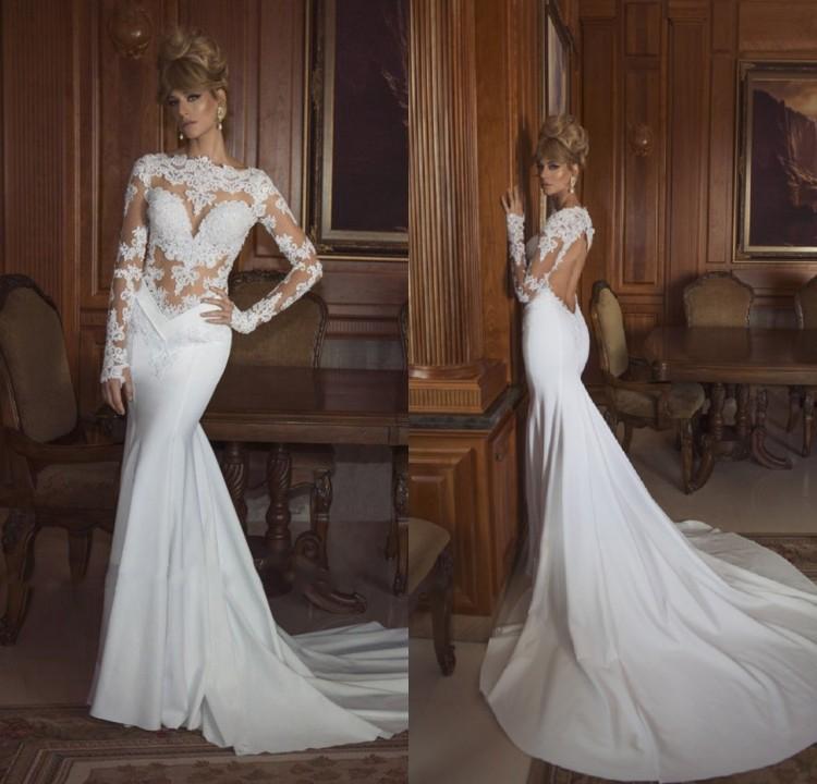 ... -Plus-Size-Backless-White-Long-Sleeve-Wedding-Gown-Hippie-Chiffon.jpg