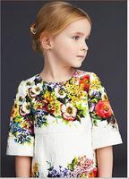 Baby girls dress kids children flower print girl dresses 1224 sylvia 43078736274