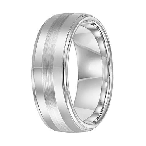 Cobalt Metal Ring Stripe Cobalt Chrome Ring