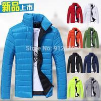 2015 autumn and winter warm men's down jacket coat Turtleneck men casual fit cashmere overcoat 9 colors
