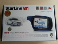 A91 two way car alarm system with remote engine start