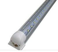 80W 8ft 2.4m 2400MM  Cooler Door Integrated T8 Led Tubes Light V-Shaped Integration T8 Led Tube Light 240 Angle  85-265V