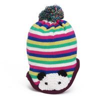 Baby Girls Hats Toddler Children Kids Winter Caps Beanies Princess Colrful Striped Bomber Cartoon Panda Accessories 5pcs/lot