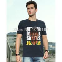 Neymar da Silva Santos Junior T-Shirt neymar jr brazil jersey Men t shirt Short Soccer Football sleeve round collar clothes