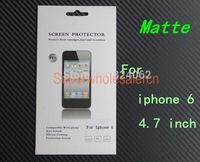2 Sets New Matte Protection Shield Front Film Screen Protector For iphone 6 4.7 inch Anti Glare Screen Guard With Retail Box
