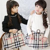 Free shipping -5pieces/lot -2015 spring models girls cotton Plaid long sleeve dress - princess tutu dress