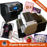 Magnetic eight colors cotton fabric printer, garment printer with high resolution