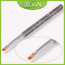 4 BQAN Metal Handle Nylon Hair Nail Brush Oval Nail Gel Art Brush 10pcs lot