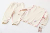 Girls Spring Pajama Sets Fashion New Full Sleeve Children Casual Organic Cotton Sleepwear Kids Round Neck Clothing 5pcs/lot