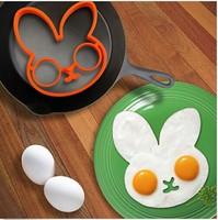 Free shipping  BUNNYSIDE UP EGG MOLD Kitchen Gift Cooking Tool Silicone Rabbit Pancake Ring Kid