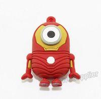 Pendrive 64GB minions Ironman USB flash drive, cartoon flash memory 64G minions Iron man gift box