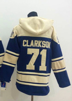 #71 David Clarkson Old Time Hoodie Jersey Toronto Sweatshirt , Stitched and Sewn