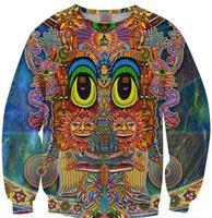 2014 new Saintart 3d printed lion harajuku style floral Crewneck Sweatshirt tops pullovers for men boys unisex