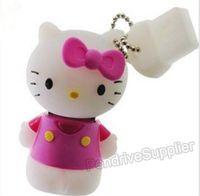 Pen drive 64GB Hello Kitty USB flash drive, cartoon flash memory cat 64G gift box