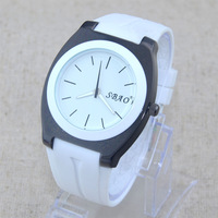 Simple Dial Silicone Fashion Men Boy Dress Watches Rubber Jelly Quartz Wrist Watch