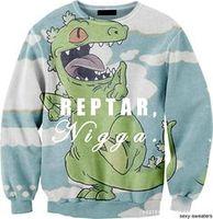 Harajuku sweatshirts iswag women fashion Nigga printed cute animals dinosaur sweatshirt 3D couple hoodies pullovers Nora05544