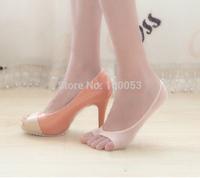 Free Shipping 5 Pairs Women Socks, BAMBOO Fiber Sock,women sock Open toe Slippers female socks,Many Colors Retail