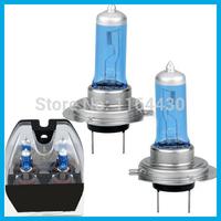 2015 Hot Sale T Freeshipping for  Car Styling 2pcs H7 6000k Gas Halogen Headlight Light Lamp Bulbs 100w Super Bright