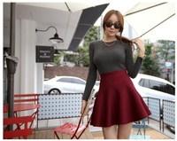 New 2014 Autumn Winter Short Skirts Woman High Waist Woolen Skirt Female Pleated Skirt For Woman and Girl