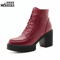 2014 fashion high-heeled shoes thick heels casual boots martin boots a888-2