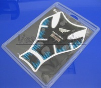 Free Shipping 10PCS For CBR VFR CB VTR CBF CBX High Quality 3D Motorcycle Oil Tank Decals Gas Pad Protector Sticker Blue QJC2326
