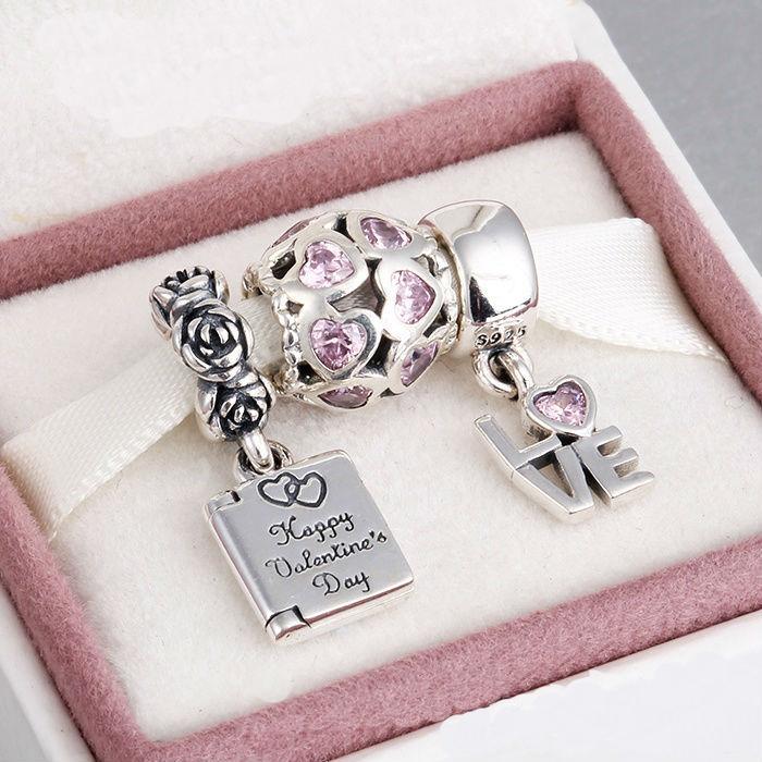 Big Promotion Fits Pandora Bracelet Necklace Pure 925 Sterling Silver Jewelry Beads Women DIYGift Wholesale Dealer