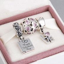 Fits Pandora Bracelet 925 Sterling Silver Beads Beatiful ValentinesJewelry Sets Charm  DIY Jewelry