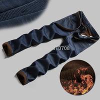 jeans for men winter trousers warm pants for men velvet denim jeans men pluse size pants winter men's jeans